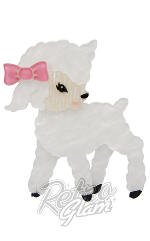 Erstwilder Dolly the Dainty lamb resin Brooch