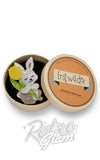 Erstwilder Junior bunny rabbit and His Tulip resin Brooch gift box