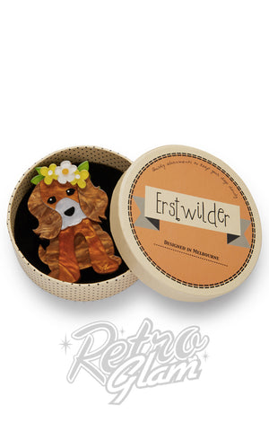 Erstwilder Puppy Love Brooch gift box