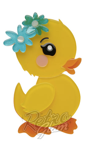 Erstwilder Waddlesworth Jr. duckling resin Brooch