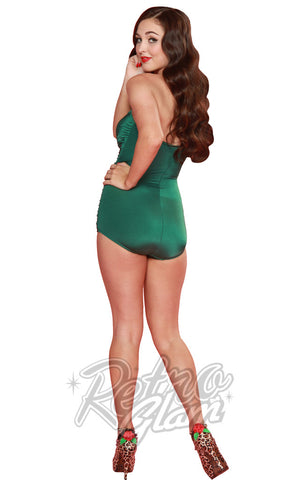 Esther Williams Pinup Swimsuit in Green back