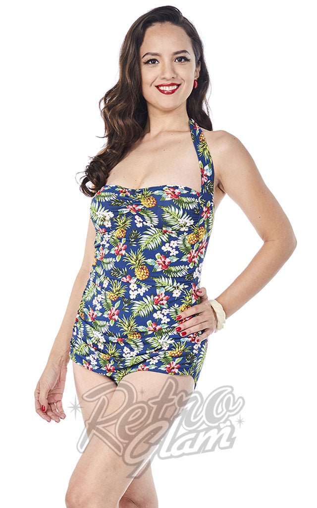 Girl Howdy Regina Frock Swimsuit in Tropical Print