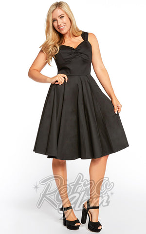 Eva Rose Sweetheart Swing Dress in Black