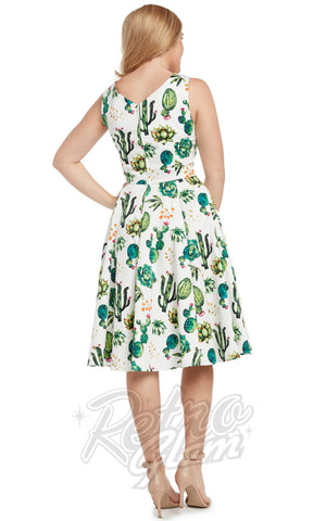 Eva Rose Misses Dress in Cactus detail