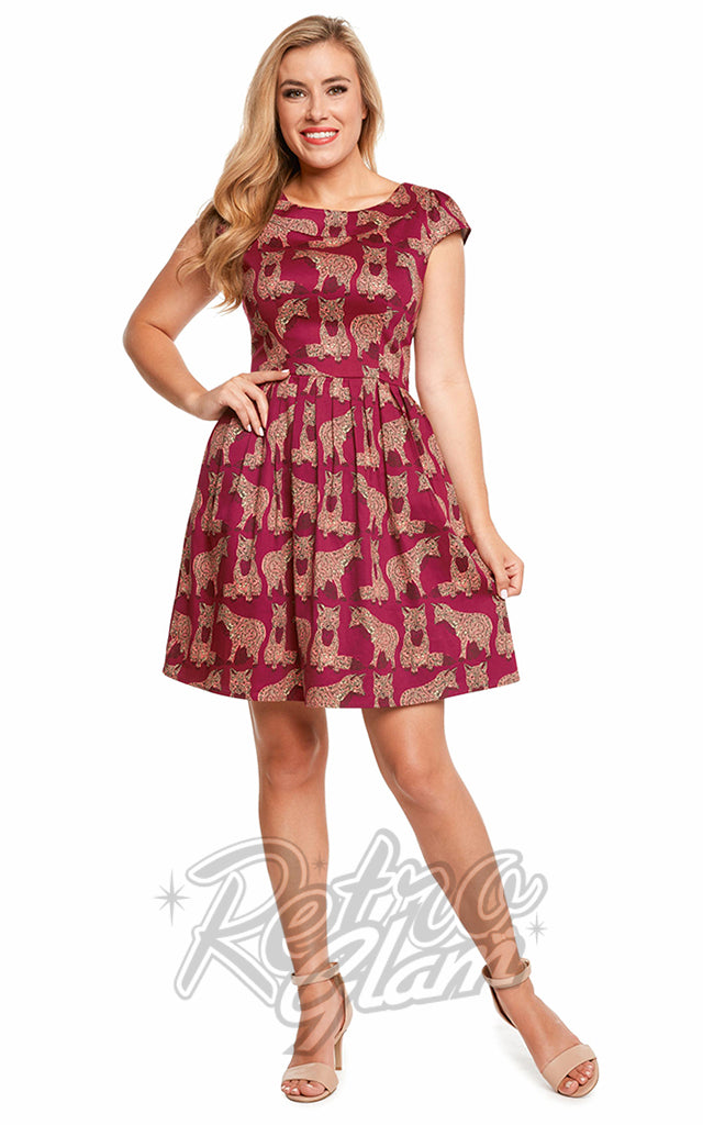 Eva Rose Fox Print Dress