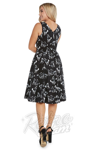 Eva Rose Misses Dress in Wild Horses Print back