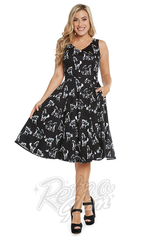 Eva Rose Misses Dress in Wild Horses Print