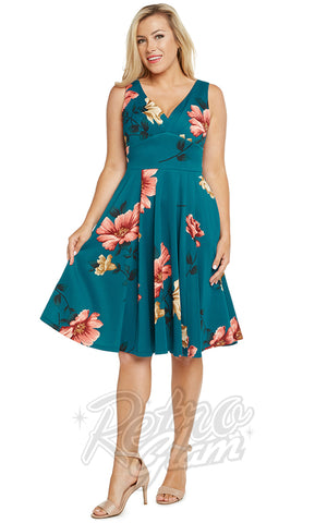 Eva Rose Misses Dress in Teal Floral