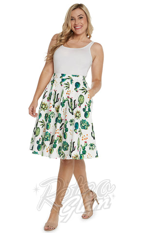 Eva Rose Skirt in Cactus Print