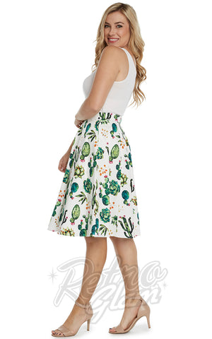 Eva Rose Skirt in Cactus Print side