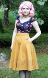 Retrolicious Charlotte Skirt in Mustard