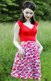 Retrolicious 50s Isabel Top in Red