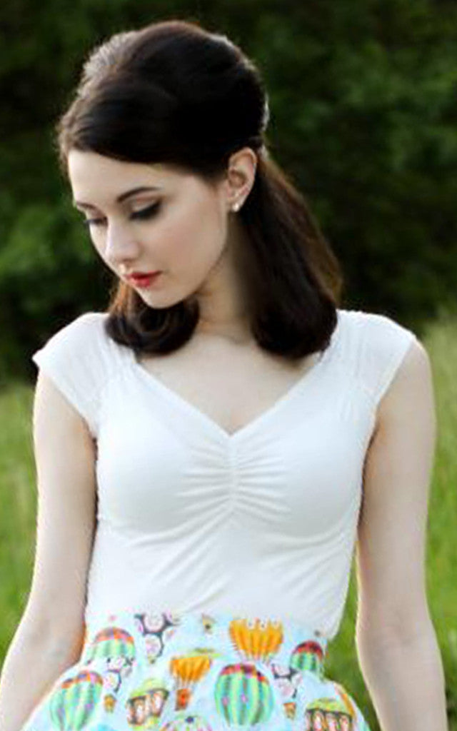 Retrolicious Isabel Top in White