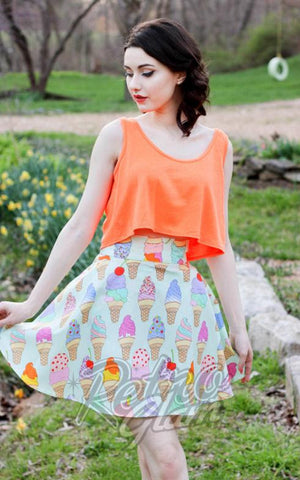 Retrolicious Ice Cream Cone Skater Skirt