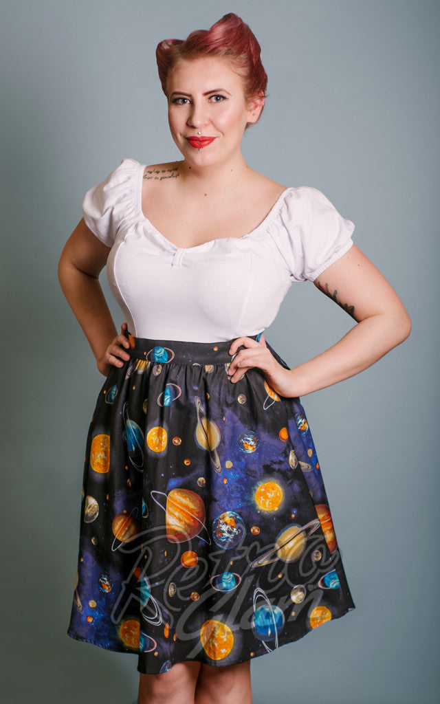 Retrolicious Planet A-Line Skirt