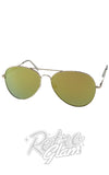 Gold Tinted Aviator Sunglasses