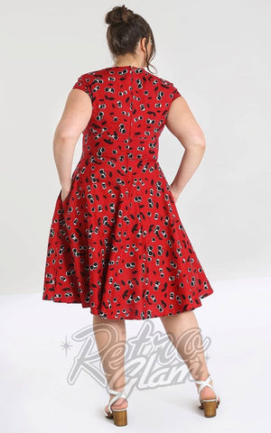 Hell Bunny Alison 50's Dress curvy back