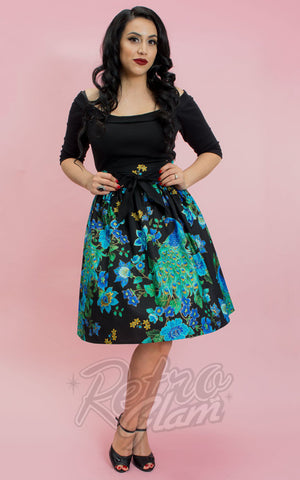 Heart of Haute Artisan Skirt in Peacock Royale Print