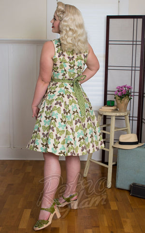 Heart of Haute Betty Lou Dress in Vanilla Butterfly back