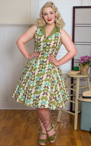 Heart of Haute Betty Lou Dress in Vanilla Butterfly