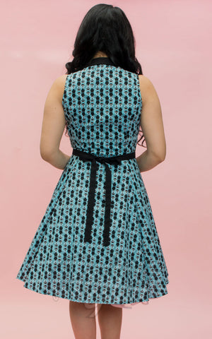 Heart of Haute Betty Lou Dress in Aqua Pretty Kitty back