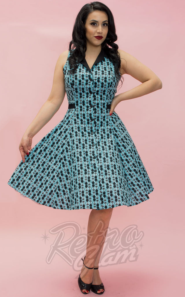 Heart of Haute Betty Lou Dress in Aqua Pretty Kitty