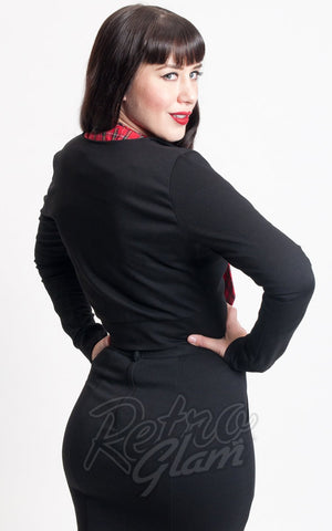Heart of Haute Dapper Blazer in Black back