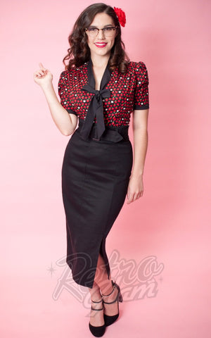 Heart of Haute Edie Blouse in Apples 40s