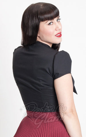Heart of Haute Estelle Top in Black back