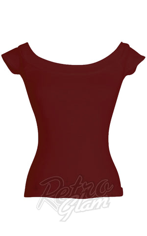 Heart of Haute Marilyn Top in Burgundy detail