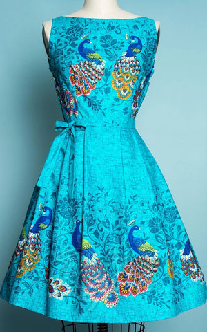 Heart of Haute Monica Dress in Peacock Border