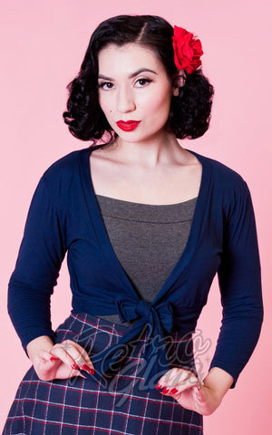 Heart of Haute Mandie Bee Sweet Sweater in Navy
