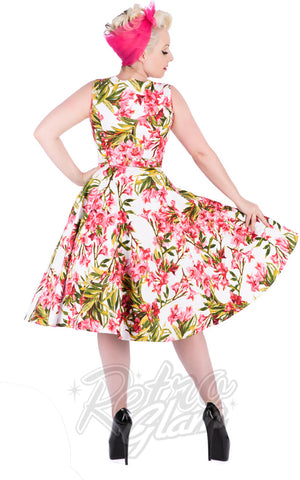 Hearts and Roses Chrystia Floral Swing Dress back