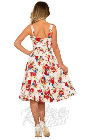 Hearts and Roses Darling Sun Dress in White back