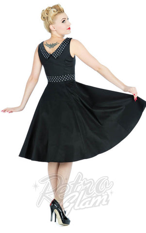 Hearts and Roses Rockabilly Recital Evening Dress back