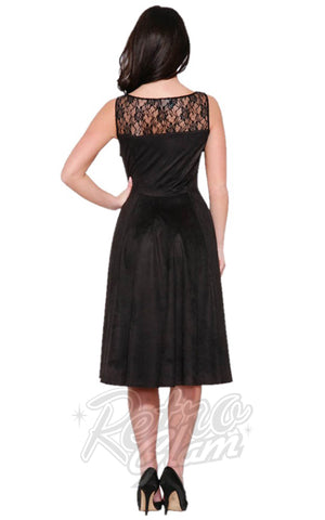 Hearts and Roses Gallerina Lace Up Dress Back