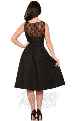 Hearts and Roses Luciana Dress in Black back
