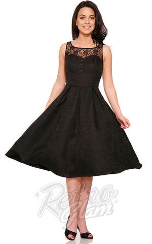 Hearts and Roses Luciana Dress in Black