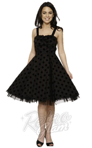 Hearts and Roses Nikki Polka Dot Flock 50's Dress