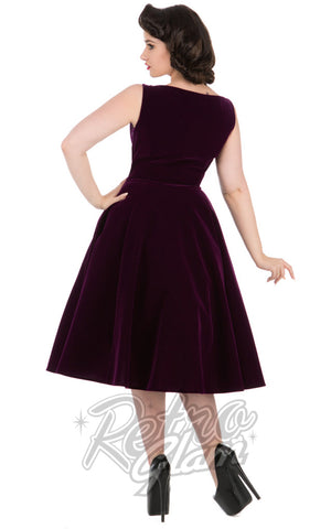 Hearts and Roses Romance Evening Dress in Purple Back