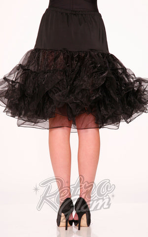 Hearts and Roses 22 inch long Petticoat/Crinoline in Black back