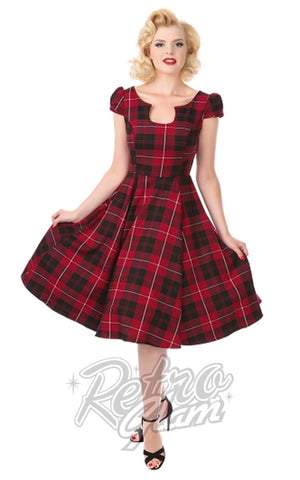 Hearts and Roses Mad for Plaid Dress in Red