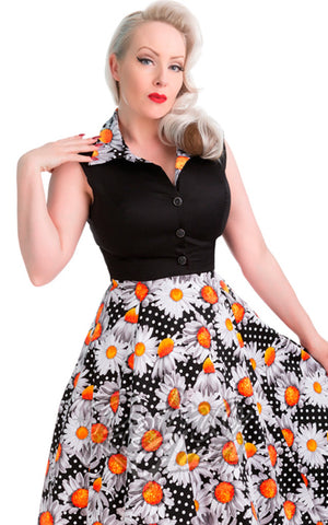 Hearts and Roses Daisy Dune Swing Dress