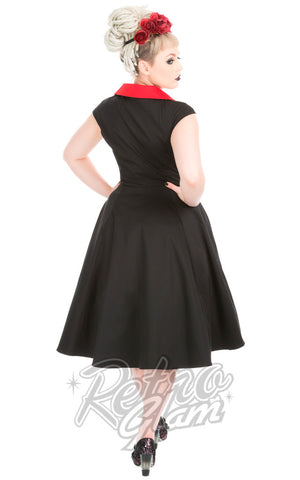 Hearts and Roses Diablo Swing Dress