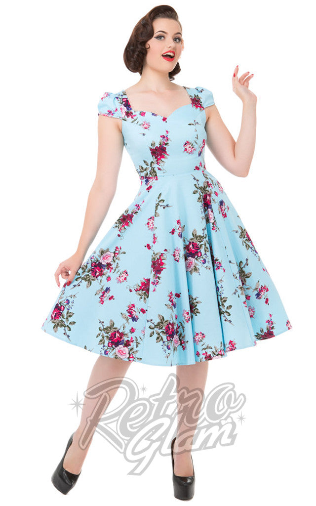 Hearts and Roses Royal Ballet Dress in Blue