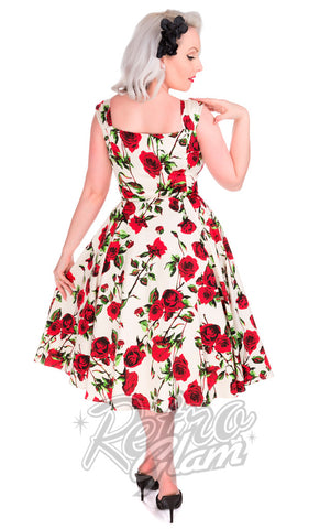 Hearts and Roses Vintage Rose Swing Dress