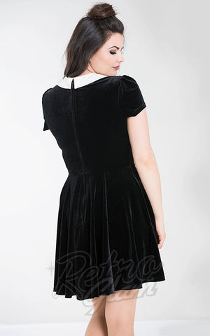 Hell Bunny New Collection Skeletons Women/'s Griselda Gothic Chiffon Mini Dress