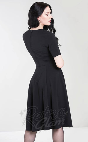 Hell Bunny Mila Dress in Black Back
