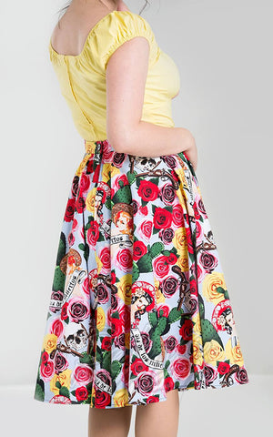 Hell Bunny Mexico 50's Skirt side