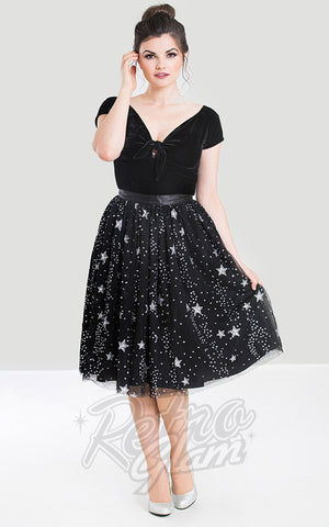 Hell Bunny Cosmic Love Skirt stars